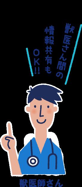 獣医さん間の情報共有もOK!!